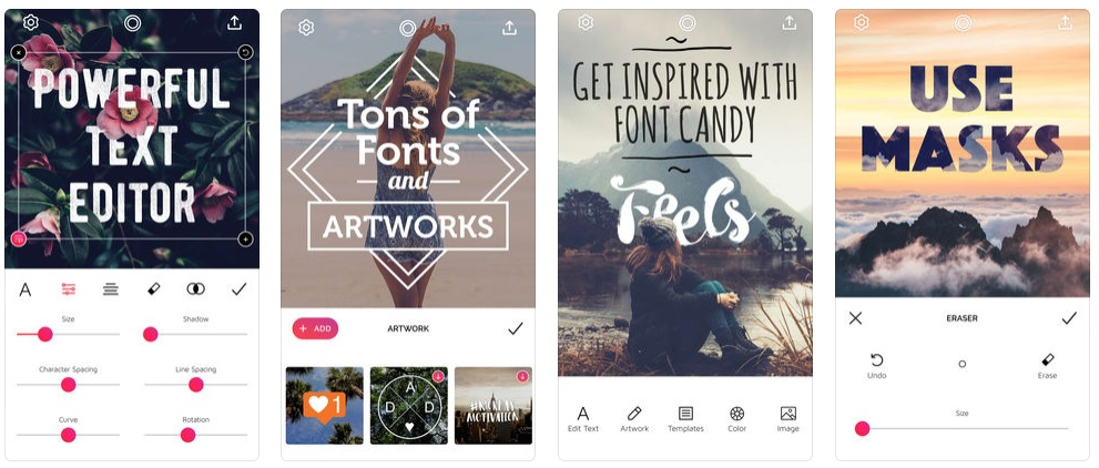 Font Candy, apps